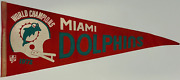Miami Dolphins Vintage World Champions 1972 Pennant