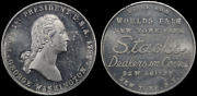1939 Ny World Fair Stacks Dealers In Coins Token Deep Contact Marks On Bust