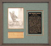 Henry Wadsworth Longfellow - Third Person Autograph Note