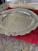 Never Used Ol Oneida Silver Plated Platter 15andrdquo Real Silver Made In Usa