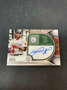 2021 Topps Tribute David Ortiz Auto Green Monster Wall Graphs 7/25 Red Sox Mr05