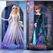 F/s Disney Frozen Ⅱ Elsa And Anna Limited Doll Set Of 2 Disney Store
