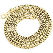 10k Yellow Gold Solid Franco Box Chain Closed Link 4.50mm Necklace 24 - 30 Inch