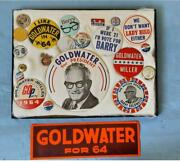 1964 Barry Goldwater Campaign Button Collection Some Uncommon Examples
