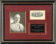 Calvin Coolidge - White House Engraving Signed