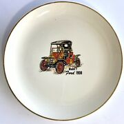 Vintage Model T Ford 1908 Automobile Johnson Matthey Aac Promo Ceramic Plate