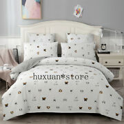 Classic Bedding Set Pure Cotton A/b Double-sided Pattern Cartoon Bed Sheet Quilt