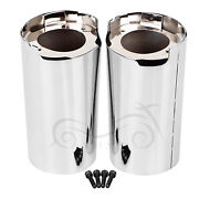Motorcycle Chrome Metal Fork Boot Slider Covers For Harley Touring Tri Glide Cvo
