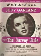 1945 Judy Garland Sheet Music Wait And See From Mgm's The Harvey Girls