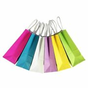 Color Fashionable Kraft Paper Bag Gift Handle Shopping Packing Excellent Quality