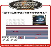 1989 1990 1991 Evinrude 70 Hp Vro Replacement Decal Kit 75 Hp Also