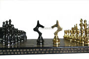 14 Handcrafted Russian Soviet Series Metal Chess Pieces And Board Set With Box