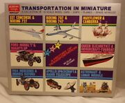 Vintage Academy Minicraft Transport In Miniature Model Cars Ships Planes See Pic