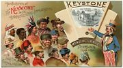 Keystone Co Sterling Illinois Uncle Sam Agricultural 1890s Mechanical Trade Card