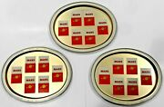 Lot 3 New Vintage Mars Filter Cigarettes Large Oval Serving Platter Or Beer Tray