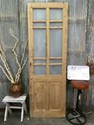 Antique 10 Pane French Door Single Door Glass Pane Door European Entry N3