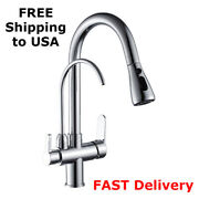 Kitchen Faucet Deck Mounted Pull Faucets Sink Mixer Single Tap Handle Down Spray