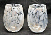 Confetti Stemless Wine Glass Sand - Set Of 2 - Tag Free Shipping