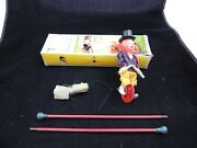 Vintage Fewo Tight Rope Celluloid Clown Unicylce West Germany Iob