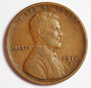 1911-d Lincoln Head Cent. Vf-xf. 159711