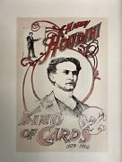 Harry Houdini Magician Print By Artist Barry Simon 13.5x11 Unsigned King Of Card