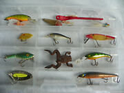 Fishing Lures Bait In Clear Case Weedless Frog Lands Bass Master Wally Diver Lot +
