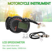 Multi-function All-in-one Lcd Motorcycle Instrument Temp Gear Fuel Gauge 7colors