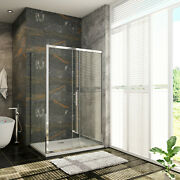 Bathroom Sliding Door Side Panel Shower Enclosure And Tray Clear Glass Cubicle
