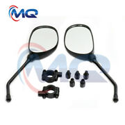 Pair 2 New Atv Rear View Mirror With 7/8 Handlebar Mount Fit Motocycle Scooter