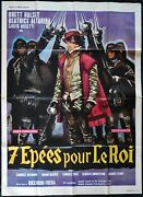 7 Epees Pour Le Roi 1962 Vintage Original French Movie Poster