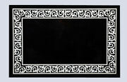 4'x2' Black Marble Dining Table Top Mother Of Pearl Inlay Handicraft Decor B772a