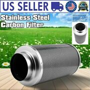 6 In Hydroponic Air Carbon Charcoal Filter For Odor Control Exhaust Inline Fan