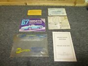 1967 Corvette Owners Manual Protecto Plate Radio And Jacking Cards First Edition
