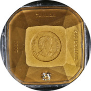 2020 Canada 500 Gold Diamond Shaped Coin - 9999 Fine 167.56gr - Forevermark