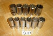 Snap-on Tools 11 Piece 3/4 Drive Sae. Deep Sockets 7/8 To 1-5/8