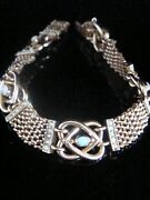 Victorian 9ct Rose Gold Natural Opal Seed Pearl Lovers Knot Bracelet 16.2g