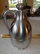 Vtg American Thermos Bottle Co Stainless Steel Carafe Glamping Growle Usa 1930s