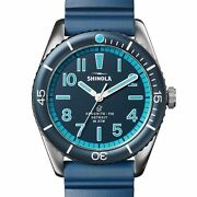 Shinola 42mm The Duck Blue Dial And Rubber Strap Watch S0120183131
