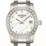 Longines Conquest Quartz Mother Of Pearl Stainless Steel Watch 29mm L33000876