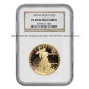 1987-w American Gold 50 Eagle Ngc Pf70ucam 1 Oz 22-kt Ultra Cameo Proof Coin