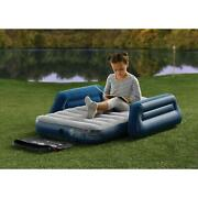 7 Inch Kids Camping Airbed With Travel Bag Without Pump Flocked Sleeping Surface