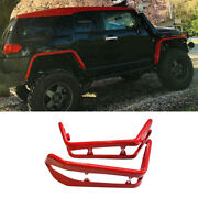 For Toyota Fj Cruiser 2007-2014 Red Iron Wheel Eyebrow Arch Trim Cover Fender