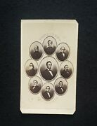 Abraham Lincoln, With A Montage Of Lincoln's Cabinet Members, Original Cdv