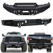 Powder Coated Front And Rear Bumper W/led Lights For 2010-2018 Dodge Ram 2500/3500