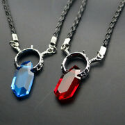 Devil May Cry Crystal Necklace Dante Vergil Pendant Chain Blueandred Accessories