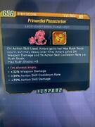 Lvl 65 Phasezerker Com +5 In Anima Ascr/action Skill/weapon Dmg Bl3 Xbox One