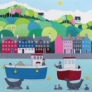Ailsa Black - The One That Got Away From Tobermory Bay -canvas Ready To Hang
