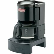 10 Cup Drip Coffee Maker Brewer Warmer Outdoor Camping Stainless Steel And Black