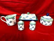Villeroy And Boch Switch 3 Lot Of Butter Dish Salt And Pepper Shakers Cream And Sugar
