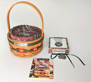 Longaberger 1997 Clintonand039s Inaugural Basket And Liner And Protector And Tie-on - New